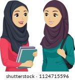 illustration of teenage girl... | Shutterstock .eps vector #1124715596