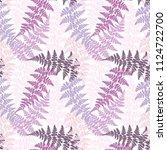 fern frond herbs  tropical... | Shutterstock .eps vector #1124722700