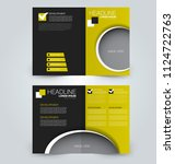 fold brochure template. flyer... | Shutterstock .eps vector #1124722763