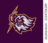 zeus thunderbolt gods esport... | Shutterstock .eps vector #1124726189