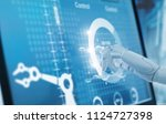 robotics hand touching and... | Shutterstock . vector #1124727398