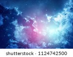 space of night sky with cloud... | Shutterstock . vector #1124742500