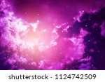 stars in the night sky purple... | Shutterstock . vector #1124742509