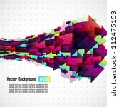 abstract vector background with ... | Shutterstock .eps vector #112475153