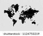 world map   high detailed black ... | Shutterstock .eps vector #1124753219