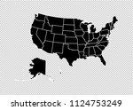 usa map   high detailed black... | Shutterstock .eps vector #1124753249