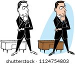 a businessman thinking at his... | Shutterstock .eps vector #1124754803
