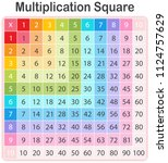 a colourful math multiplication ... | Shutterstock .eps vector #1124757629