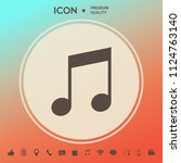 music icon symbol | Shutterstock .eps vector #1124763140