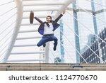 lifestyle business man feel...   Shutterstock . vector #1124770670