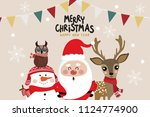 christmas greeting card with... | Shutterstock .eps vector #1124774900