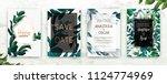 wedding invitation frame set ... | Shutterstock .eps vector #1124774969