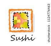 sushi illustration on a white... | Shutterstock . vector #1124776463