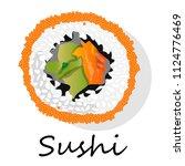 sushi illustration on a white... | Shutterstock . vector #1124776469