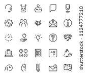 support flat icon set. single... | Shutterstock .eps vector #1124777210