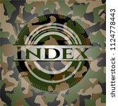 index camouflage emblem | Shutterstock .eps vector #1124778443