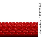 rows of red cinema or theater...   Shutterstock .eps vector #1124785946