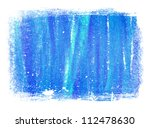 Blue Abstract Hand Painted...