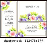 invitation with floral... | Shutterstock .eps vector #1124786579