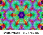 illustration of mosaic images ... | Shutterstock . vector #1124787509