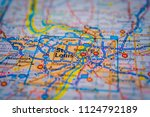 st.louis on usa map | Shutterstock . vector #1124792189