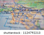 los angeles  usa map background | Shutterstock . vector #1124792213