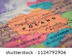 poland map background | Shutterstock . vector #1124792906
