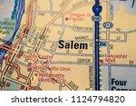 salem on usa map | Shutterstock . vector #1124794820