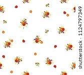 cute seamless floral pattern.... | Shutterstock .eps vector #1124797349