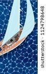 sailing ship vertical flyer... | Shutterstock .eps vector #1124798648