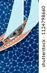 sailing ship vertical flyer... | Shutterstock .eps vector #1124798660