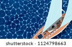 sailing ship banner with space... | Shutterstock .eps vector #1124798663