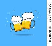 beers isolated vector... | Shutterstock .eps vector #1124799680