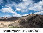 himalaya mountain and blue sky... | Shutterstock . vector #1124802503