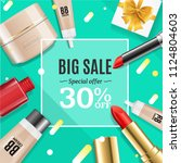 cosmetic product big sale... | Shutterstock .eps vector #1124804603