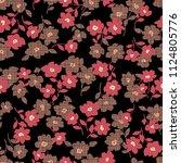 flower illustration pattern  i... | Shutterstock .eps vector #1124805776