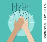 high five illustration. two... | Shutterstock .eps vector #1124811173