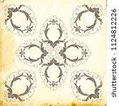 retro baroque decorations... | Shutterstock .eps vector #1124812226