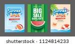 summer sale banner templates....   Shutterstock .eps vector #1124814233