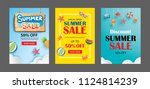 summer sale banner templates.... | Shutterstock .eps vector #1124814239