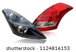 car tail lights that are... | Shutterstock . vector #1124816153
