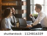 male architect talking to... | Shutterstock . vector #1124816339