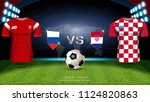 football cup 2018 world... | Shutterstock .eps vector #1124820863