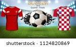 football cup 2018 world... | Shutterstock .eps vector #1124820869