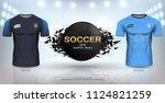 football cup 2018 world...   Shutterstock .eps vector #1124821259