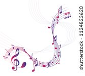 colorful abstract music notes... | Shutterstock .eps vector #1124823620