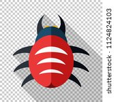bug icon in flat style with... | Shutterstock .eps vector #1124824103