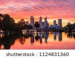 Vivid Sunset Over Perth City...