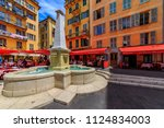 nice  france   may 24  2018 ... | Shutterstock . vector #1124834003