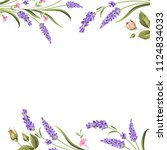 botanical decorative border... | Shutterstock .eps vector #1124834033